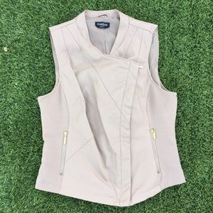 bebe Nude Faux Leather Vest